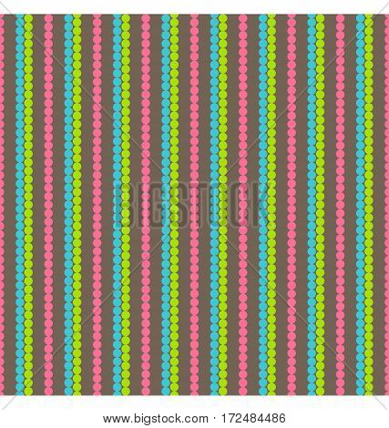 Bright fun abstract seamless pattern with lines