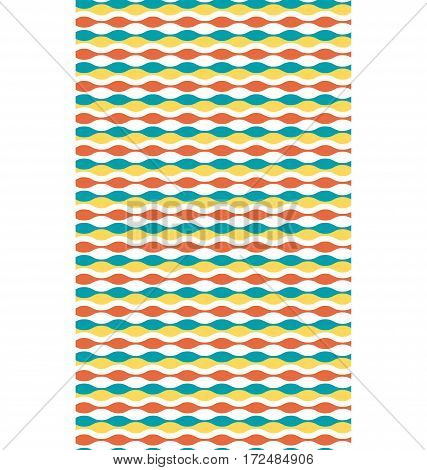 Seamless bright fun horizontal wave abstract pattern