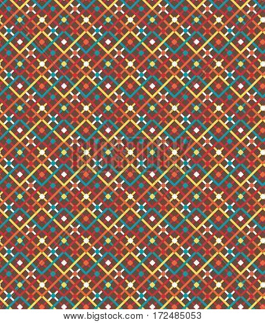 Seamless bright fun multicolor geometric abstract modern pattern