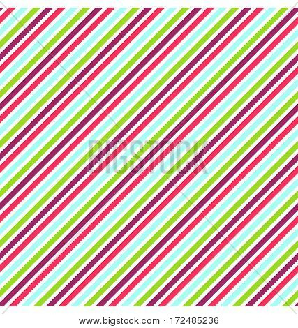 Seamless Bright Fun Abstract Multicolor Diagonal Pattern