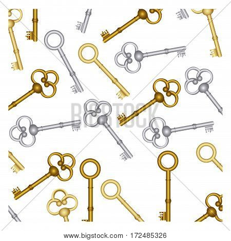 old keys icon stock, vector illustration image design