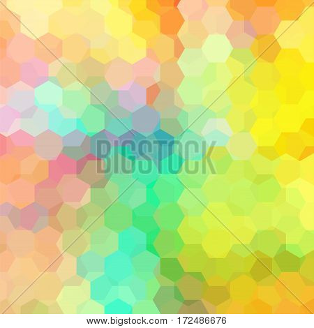 Background Of Geometric Shapes. Colorful Mosaic Pattern. Vector Eps 10. Vector Illustration. Yellow,