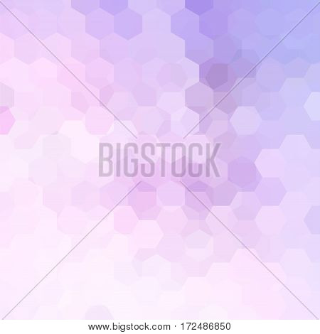 Background Made Of Pink, Violet, White Hexagons. Square Composition With Geometric Shapes. Eps 10