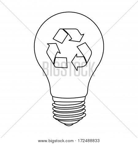 figure bulb eco icon, vector illustration design