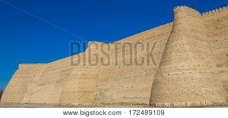 Wall of The Ark fortress of ancien Bukhara Uzbekistan 2016