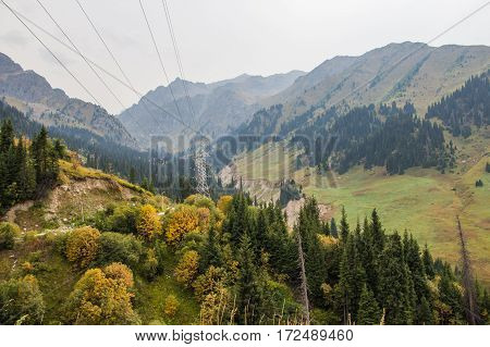 Tuyk Su Gorge Near Shymbulak Ski Resort. Tien Shan Mountains At Summer Time, Almaty, Kazakhstan