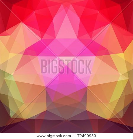 Abstract Background Consisting Of Red, Yellow, Brown Triangles. Geometric Design For Business Presen