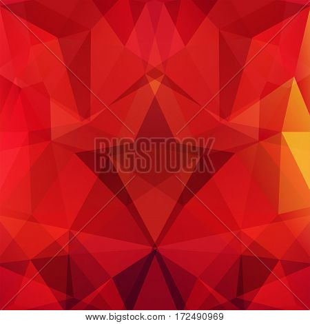 Background Of Geometric Shapes. Red Mosaic Pattern. Vector Eps 10. Vector Illustration