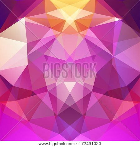 Abstract Background Consisting Of Pink, Purple Triangles. Geometric Design For Business Presentation
