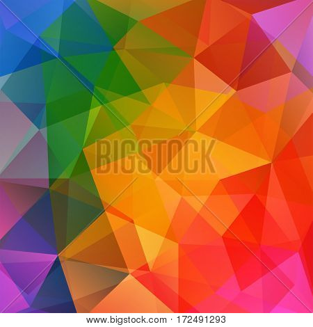Abstract Background Consisting Of Coloful Triangles. Geometric Design For Business Presentations Or