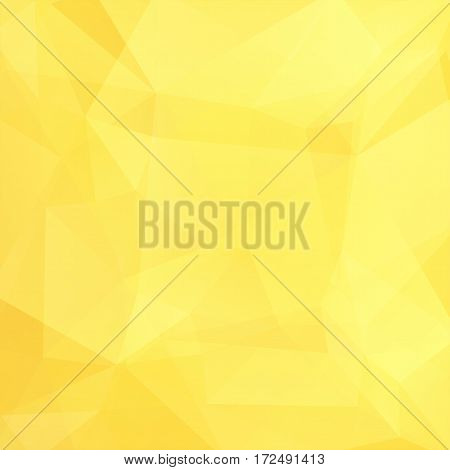 Abstract Background Consisting Of Yellow Triangles. Geometric Design For Business Presentations Or W