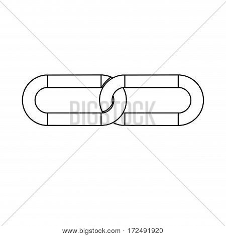 figure chain icon stock image, vector illustration design