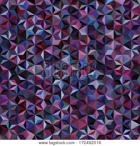 Abstract Seamless Background Consisting Of Purple, Black, Blue Triangles. Geometric Design For Busin