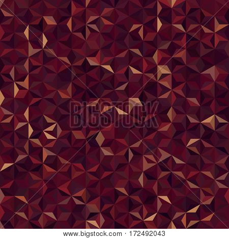 Background Of Brown Geometric Shapes. Seamless Mosaic Pattern. Vector Illustration