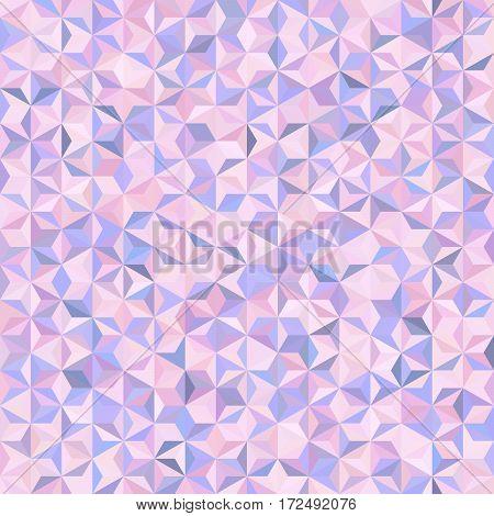 Background Of Pastel Pink, White, Blue Geometric Shapes. Seamless Mosaic Pattern. Vector Illustratio