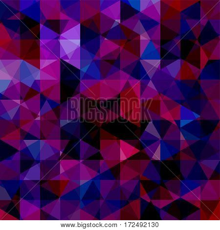 Abstract Background Consisting Of Pink, Purple, Black Triangles. Geometric Design For Business Prese