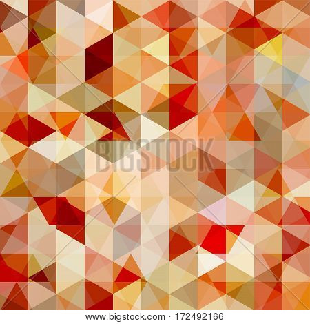 Abstract Background Consisting Of Beige, Brown, Red Triangles. Geometric Design For Business Present