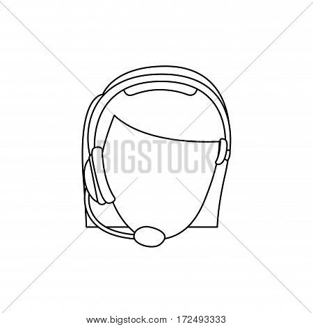 figure face woman technological services icon, vector illustration design