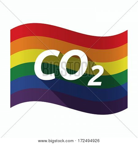 Isolated Gay Pride Flag With    The Text Co2