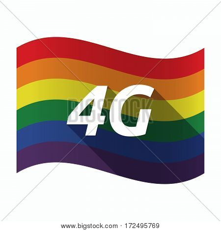 Isolated Gay Pride Flag With    The Text 4G