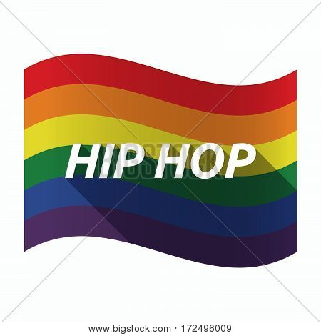 Isolated Gay Pride Flag With    The Text Hip Hop