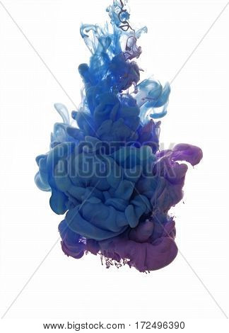 Abstract Object Of Paint Splash. Color Cloud Of Ink In Water