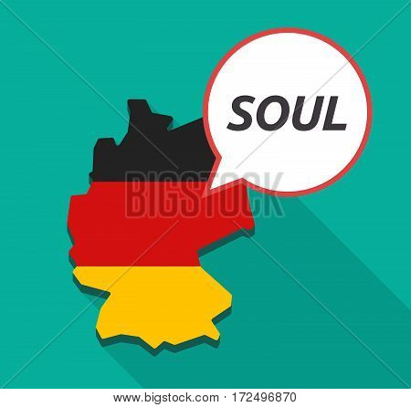Long Shadow Germany Map With    The Text Soul