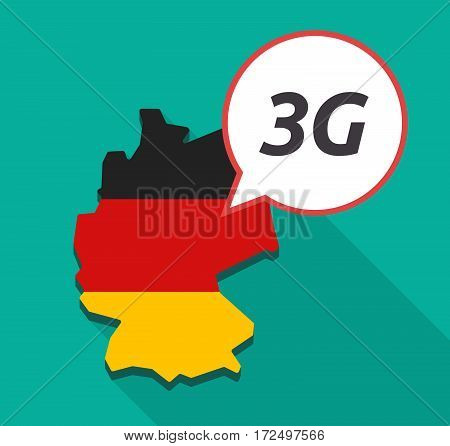 Long Shadow Germany Map With    The Text 3G
