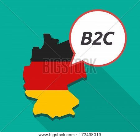 Long Shadow Germany Map With    The Text B2C