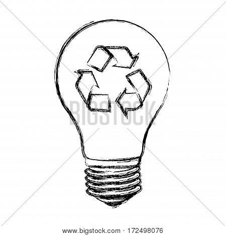 contour bulb eco icon, vector illustration design