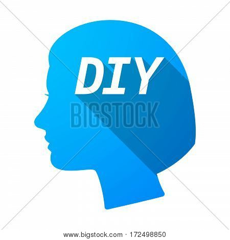 Isolated Female Head With    The Text Diy