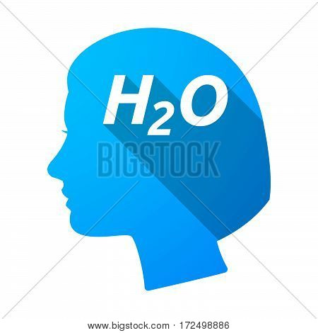 Isolated Female Head With    The Text H2O