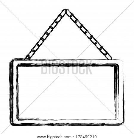 contour square painting frame icon, vector illustration design image