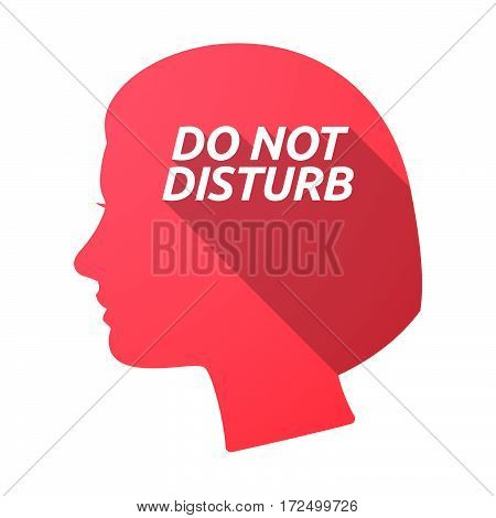 Isolated Female Head With    The Text Do Not Disturb