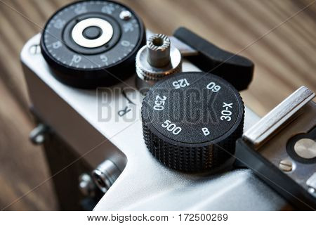 Control Dial Shutter Speed And Frame Counter On Slr Camera