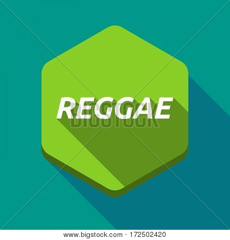 Long Shadow Hexagon With    The Text Reggae