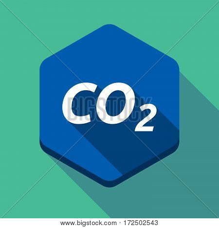 Long Shadow Hexagon With    The Text Co2