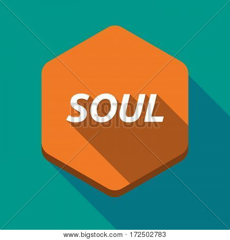 Long Shadow Hexagon With    The Text Soul