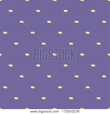 Abstract vector background. Seamless pattern with small brush strokes. Polka dot.
