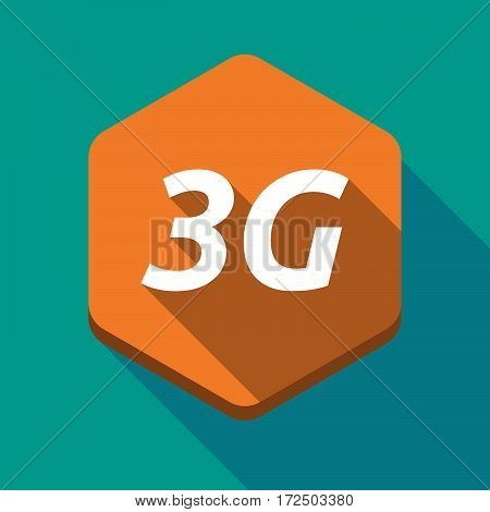 Long Shadow Hexagon With    The Text 3G