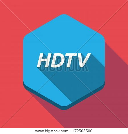Long Shadow Hexagon With    The Text Hdtv