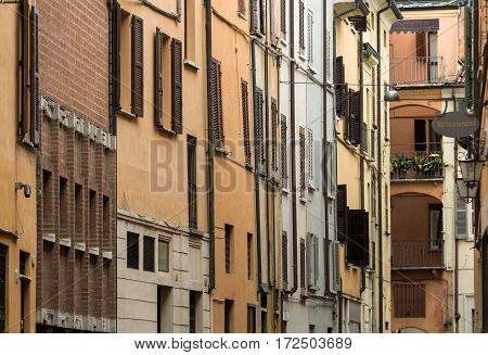 The historic city center of Mantua. Italy