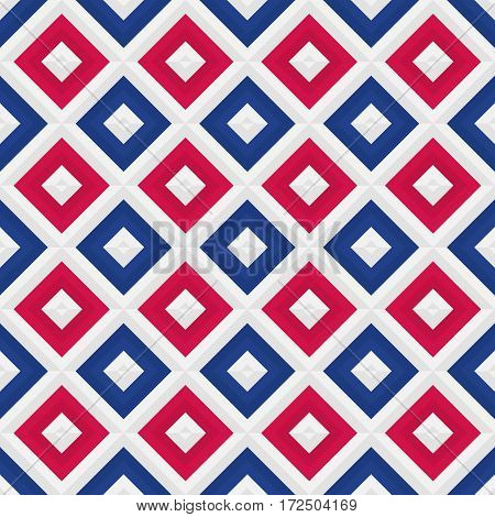 Colorful geometrical pattern. Vector seamless texture made with square elements perfect for barbershop
