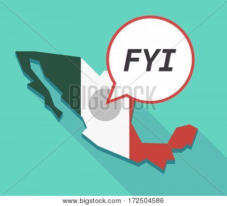 Vector Of Mexico Map With    The Text Fyi