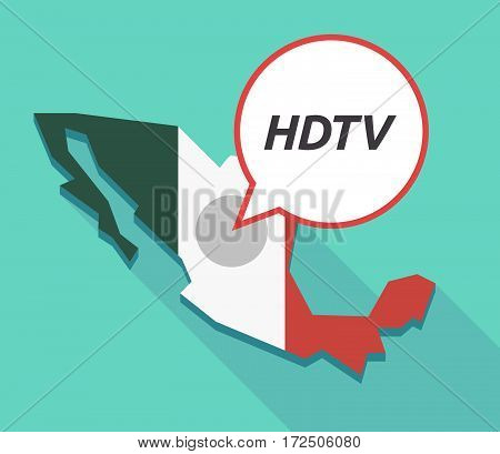 Vector Of Mexico Map With    The Text Hdtv