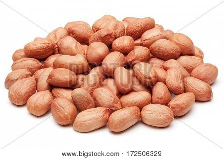 Peanuts, isolated on the white background, clipping path included.