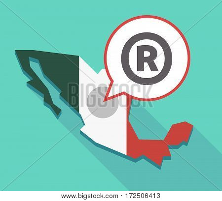 Vector Of Mexico Map With    The Registered Trademark Symbol