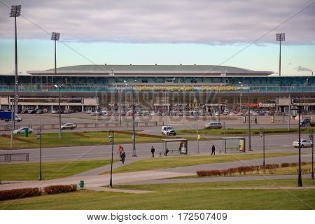 KAZAN RUSSIA - OCTOBER 25 2016: Central Stadium in the Kazan Republic of Tatarstan Russia
