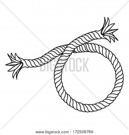 contour realistic break rope icon, vector illustration design