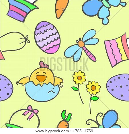 Doodle of easter egg style colorful vector illustration